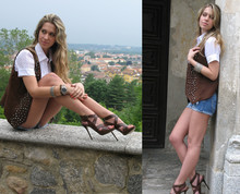 Laura G - Zara Shoes, Ara Hot Pants, Unknow - Brown and studded