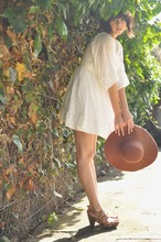 Annabel Ly - American Apparel Wool Floppy Hat, Zara Dress, Zara Clogs - Perfect summer outfit