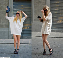 Chiara Ferragni - Cycle Wedges - The bat dress, Cycle wedges and Chanel clutch