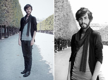 Tony Stone - The Kooples Scarf, H&M Cardigan, H&M Shirt - BYCLEMENTLOUIS