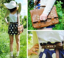 Fashionelka Eliza - New Look Skirt, Primark Bag, Miss Selfridge Ring, H&M Hat - Http://fashionelka.pl
