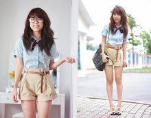 Linda Tran N - Saigon Square Denim Shirt, Saigon Square Shorts - Elementary school of fashion