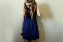 Kristie Webster - Temt Blue Woven Dress - This modern love, wastes me.