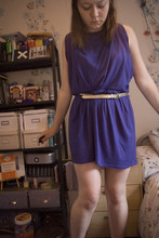 Hannah L - Mothers Wardobe Random Toga Dress, Primark Gold Belt - TOGA
