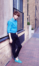Elvin Feng - Asos Shirt, Vivienne Westwood Belt, Asos Trousers, Tod's Shoes - ~into the BLUE~