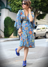 Jennine Jacob - Nieves Lavi Kaftan Dress, Aldo Strappy Shoes - It feels like summer