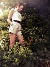 Amy Southwell - Primark Blouse, Retrospectacle Shorts, Thrifted Woven Belt - Woodland Wonder