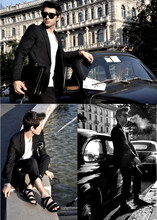 Filippo Fiora - Dior Homme Black Suit, H&M Black Sandals - Business intentions