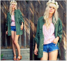 Coury Combs - Topshop Ollie Clog Sandals, Vintage Everything Else - The sp-sp-sparkly sun and a crown of roses.