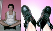 Emma M - Doc Marten Black Marten's, Moon Collection Lace Dress - Funny Story