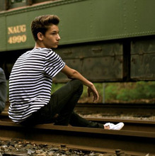 Joey Dupont - H&M Black & White Striped Shirt, H&M White Boat Shoes, H&M Black (Skinny) Pants - So Happy I Could Die