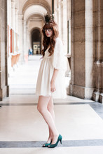Louise Ebel - Zara Dress, H&M Kimono, New Look Shoes, Diy Headband - Arts et metiers.