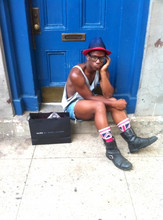 Eric Barmore - H&M Top Hat, Oversized Tank, Juicy Couture Cut Off Shorts, Urban Outfitters U.K. Socks - I'm getting a bit bored with Marc *