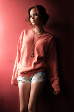 Laura Espinosa - Ac Sweater., Diy Shorts. - A Touch of Coral.