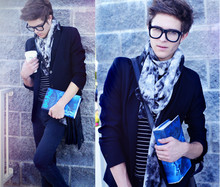 Adam Gallagher - Thick Frames, H&M Smoke Scarf - Order of the phoenix