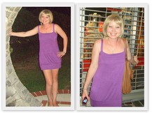 Jess R - Italy Purple Dress - If you walk under a Moongate, it brings you good luck...