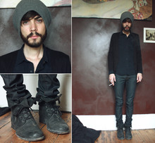 Tony Stone - Topman Bennie, The Kooples Slim Pant, All Saints Boots - OURNEWROOM