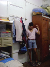 Yummiewill Brown - Ukay, Cubao Cotton Shirt, Folded & Hung Leather Belt, Guess? Denim Cutoffs, My Brand Leather Shoes - DizzyBreezyDrizzly