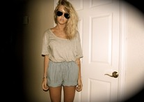 Liza Lou - Resale Shorts, Walmart Shirt, Thrift Shop In Austin Sunglasses - Long day