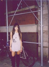 Rachel Lynch - H&M The Smiths Vintage Tee Dress, Tribeca Black Thigh High Buckle Boots - Wild stone fox 1979