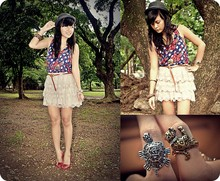 CHILL Torralba - Topshop Top, Sm Dept. Store Skirt, Girlshoppe Rings - My little companions :)