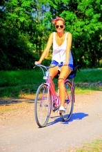 Anna K. - Forever 21 Bow Headband, Ae Loose Tank Top, Hollister Denim Shorts, Payless Plimsoles - I want to ride my bicycle...i want to ride my bike...