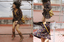 Sooz M - Vintage Dress, Vintage Cowgirl Boots, Bershka Bag - Spinning Around
