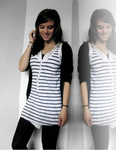 Aafke Kloos - H&M Striped Shirt - ONE AND A HALF