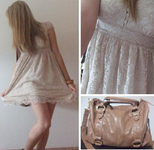 Alex C - Stradavarius Lace Dress, Republic Leather Bag - Living in Lace