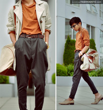 Mc kenneth Licon - Zara Trench, Zara Plain Crew Neck Shirt, Zara Basic Brown Belt, Self Altered Pants, H&M Duffel With Leather Pipping, Zara Nude Oxford - Waiting for Halloween