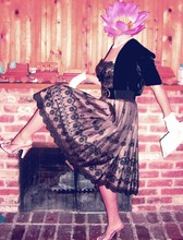 Courtney W - Vintage Gloves And Clutch, Nina Heels, Antique Shop Vintage Dress And Bolero - Engagement party
