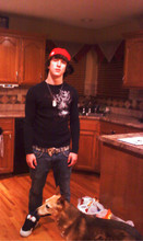 JaKe MaNE - Dvs, Dogtag, New Era Cincinnati Reds Hat, Famous Stars And Straps Belt, Bull Head Skinny Jeans, Split Shirt - Goin Pro