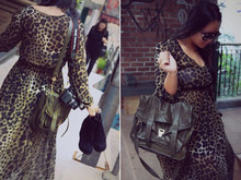 Luana Love Lee - H&M Leopard Maxi Dress, Proenza Schouler Ps1, Jeffery Campbell Pixie Wedges - Just the way you are