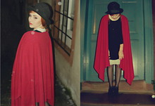 Jess - Boyfriend's Mom Red Cape - Totally enormus extinct dinosaurs - garden
