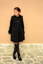 Adelaide L. - Max Mara Doll Coat, Dolce & Gabbana Matelassé Boots - A coat always save the appearance