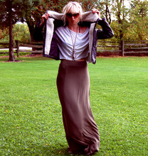 Betsy Berger - H&M Jacket, H&M Maxi Skirt - GREEN MAX