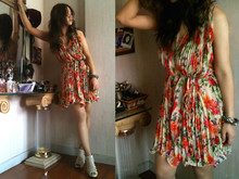 Vera Kay - Flower Pleat Dress, Cps ฺิbracelet - Do You Think Of Me Like I Think Of You