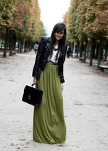 Andy T. - Diy Skirt, Vintage Bag - PARIS FASHION WEEK