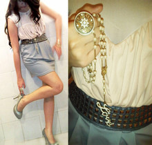 Michelle Djajawisastra - Bebe Nude Top, Topshop Skirt, Love Rosary, Forever 21 Ring - When LOVE meets harmony
