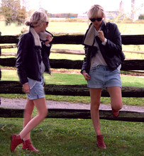 Betsy Berger - H&M Jacket, Levi's® Shorts, Urban Outfitters Boots - MULTIPLY