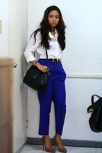 Kate H - Aldo Shoes, Chapel Street Bazaar Vintage Trousers, Mimco Bag, Supre Belt, Polo Thrifted - The Purple Pants