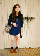 Priscilia Pinksuitdreamer - Forever 21 Bag, Diva Necklace, Bangkok Market Dress, Jay Jays Cardigan, Steve Madden Clogs - Friday Too?