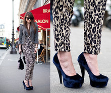 Andy T. - H&M Leopard Pants - PARIS FASHION WEEK DAY 3