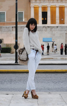 Heleny Maist - Zara Bag, Zara Sweater, Zara Belt, Vintage Jeans, Vintage Necklace, Stradivarius Shoes - Winter Eyes