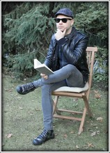 Ivan Johannes - H&M Pu Jacket, Cheap Monday Skinny Jeans, Converse Leather Chucks, Ray Ban Way Farer - A world apart