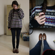 Lies S - Vintage Fairisle Sweater, H&M Deer Ring, Free People Desert Boots - Here comes the feeling you thought you'd forgotten.