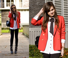 Andy T. - Vintage Blazer, H&M Blouse - IM GONNA LOVE YOU LIKE I'VE NEVER BEEN HURT BEFORE