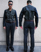 Perry Kwong - Raf Simons Military Jacket, Raf Simons Snake Belt, American Apparel Sheer Tops - Today's Military - NOT for war