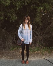 Claire Mcmanus - Thrifted Shoulder Bag, Thrifted Jumper, Sportsgirl Brogues, Sportsgirl Glasses - Mrs Woolly :)