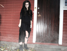 Gelix . - Monki All Clothes; & Weekday, Dr. Martens Shoes - Black